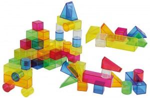 Bloques geometricos traslucidos
