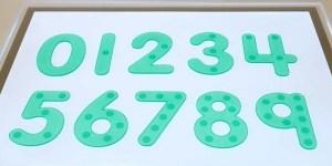 Numeros con cantidades sensoriales