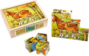 Puzzle cubos animales2